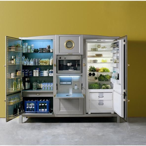Kitchen Cool Portable Kitchen Pantry With Clever Designs: Meneghini La Cambusa Three Door Fridge. Coming In At A