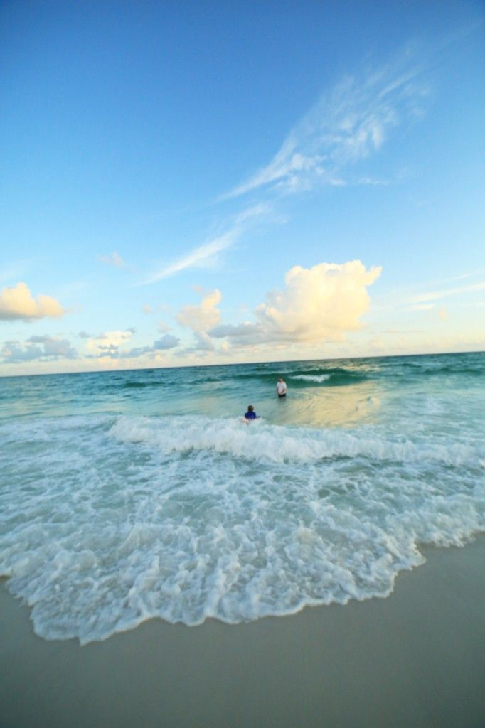 white sand beaches and crystal clear waters....salty and awesome.