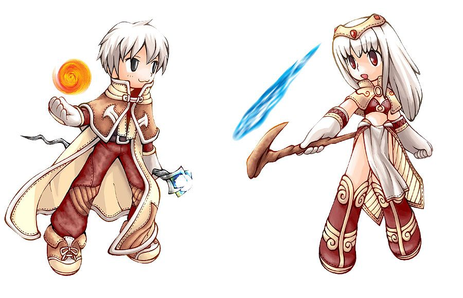 Chibi Mage From Ragnarok Online Game Character Design Concept Art Portraits