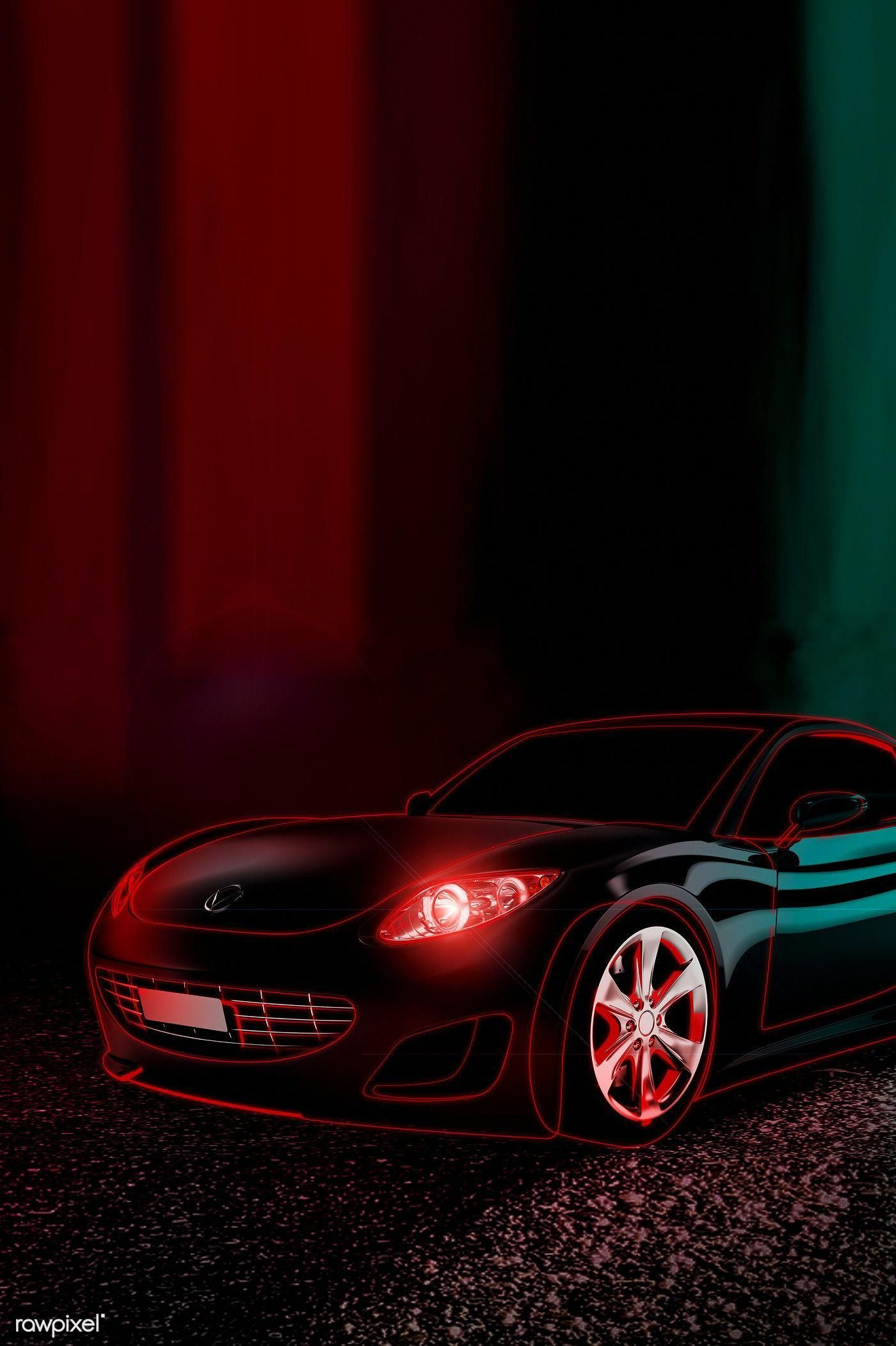 Red Neon Sports Car Design Premium Image By Rawpixel Com Nap Mercedesbenzclassiccars Sports Car Neon Car Car Design
