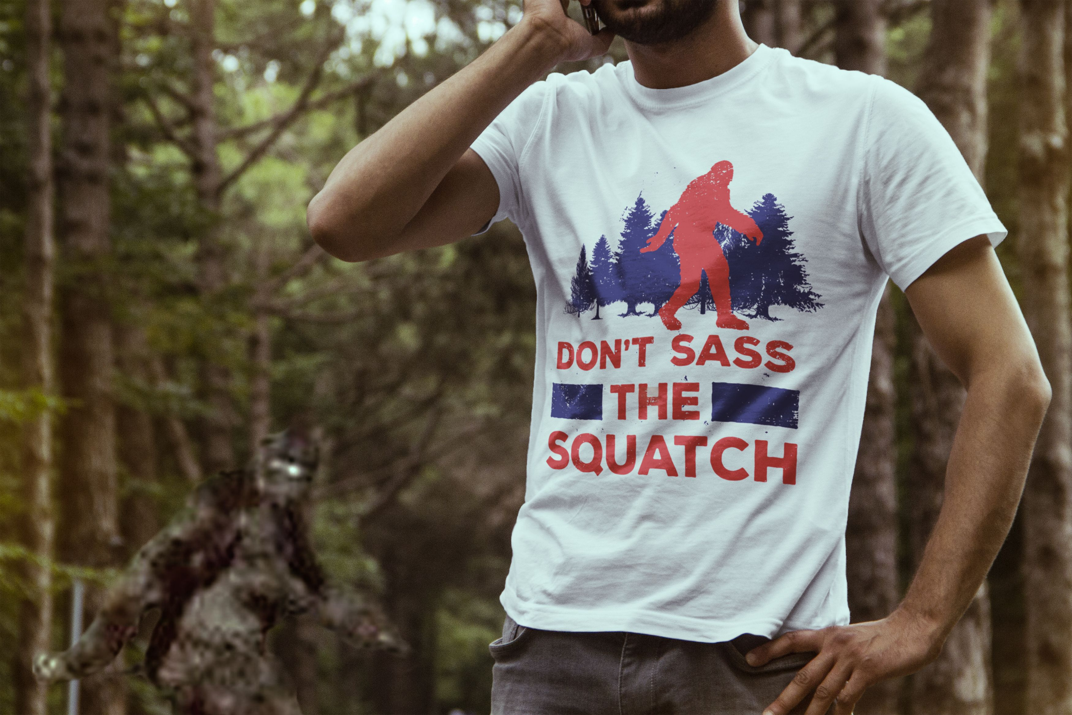0f46d6cfe Don't Sass The Squatch Funny Sasquatch T-Shirt. If you believe in Bigfoot,  then you have to get this awesome Tee.