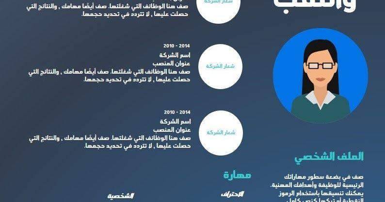 تحميل نموذج سيرة ذاتية باللغة العربية Curriculum Vitae Curriculum Pie Chart
