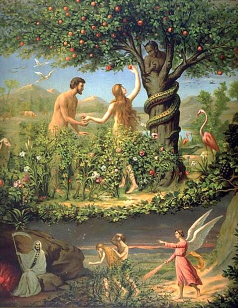 Eden(Christian)- The beautiful garden created by God which Adam and Eve  lived. They were expelled from the garden when they sinned a… | Adam and  eve, Art, Bible art