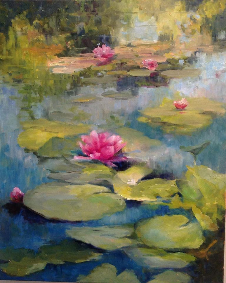 Lily Pads Abstract Painting Painting Watercolor Art