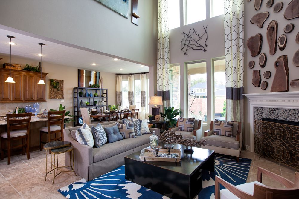 Model Home Curtains photo & video gallery | trendmaker homes | model homes decor