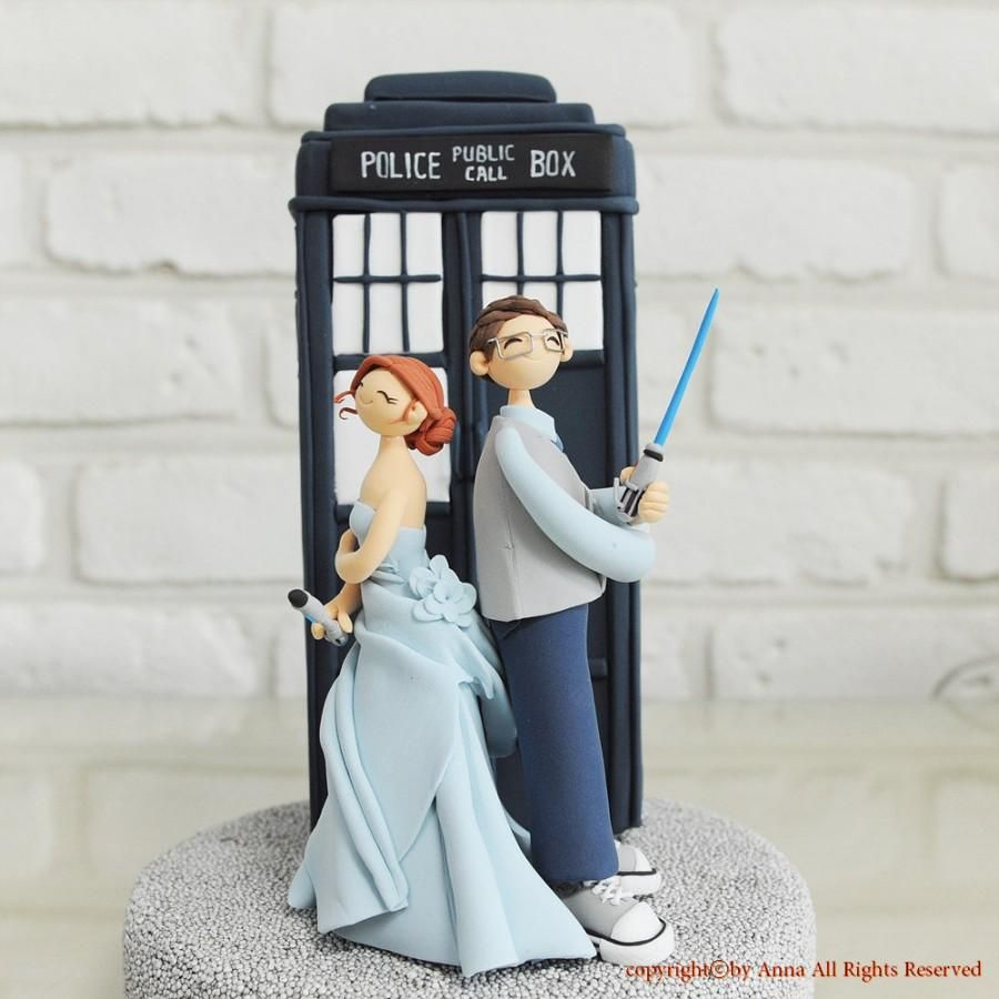 Custom Cake Topper -Doctor Who, Star wars combined theme- | Ideas ...