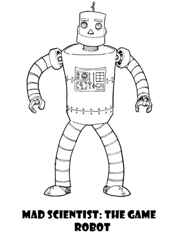 Mad Scientist The Game Robot Coloring Pages Best Place To Color Mad Scientist Coloring Pages Ninjago Coloring Pages