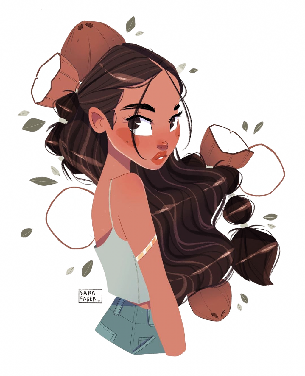 Sara Faber On Instagram Coconut Girl Drawing Digitalart Ipadpro Procreate Myart Charac In 2020 Girls Cartoon Art Cartoon Girl Drawing Girl Drawing Sketches