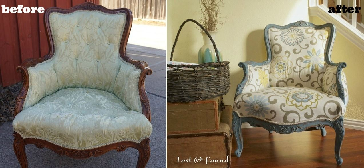 Old French Chair Before And After Reupholster Reupholster Chair