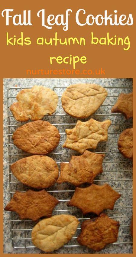 Fall leaf cookies :: lovely kids baking recipe