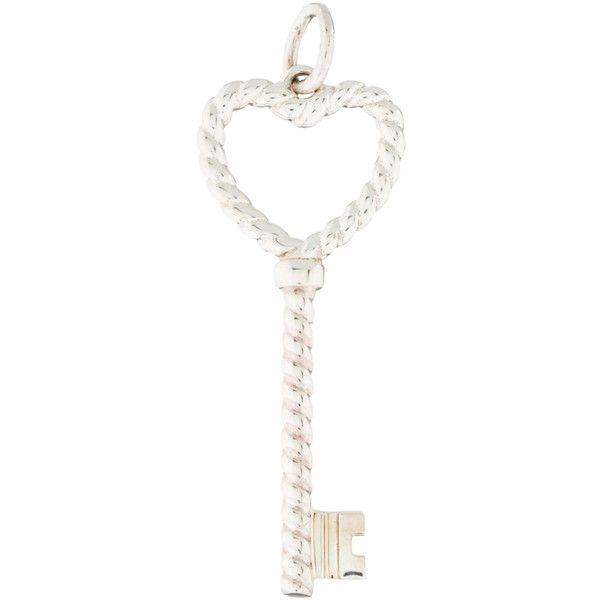 Pre-owned Tiffany & Co. Twisted Key Pendant ($75) ❤ liked on Polyvore featuring jewelry, pendants, silver, tiffany & co jewelry, tiffany & co jewellery and tiffany & co.