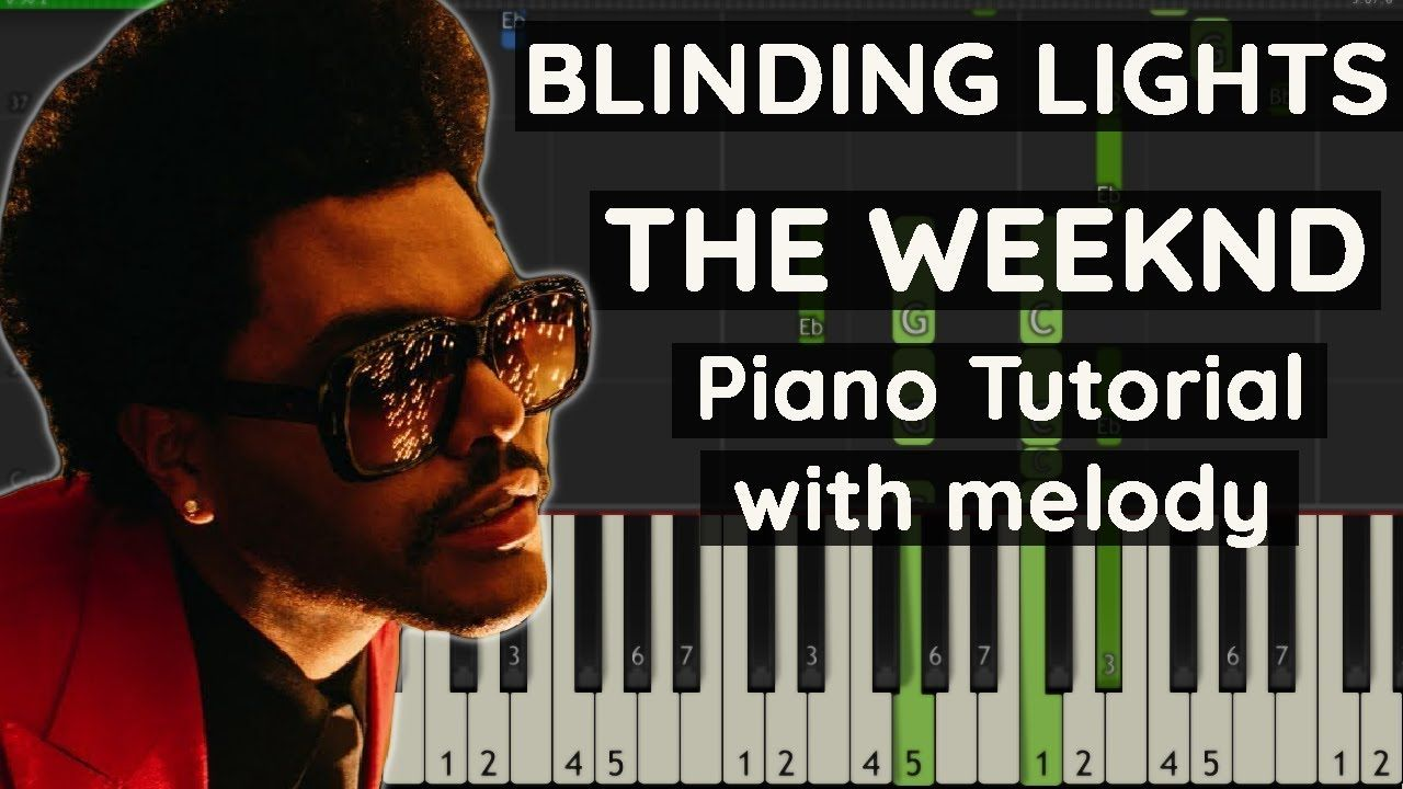 How To Play Blinding Lights By The Weeknd Piano Tutorial In