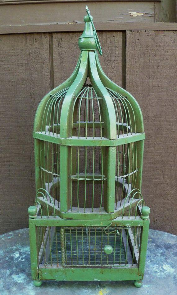 Vintage green birdcage | Birdcages in 2019 | Antique bird