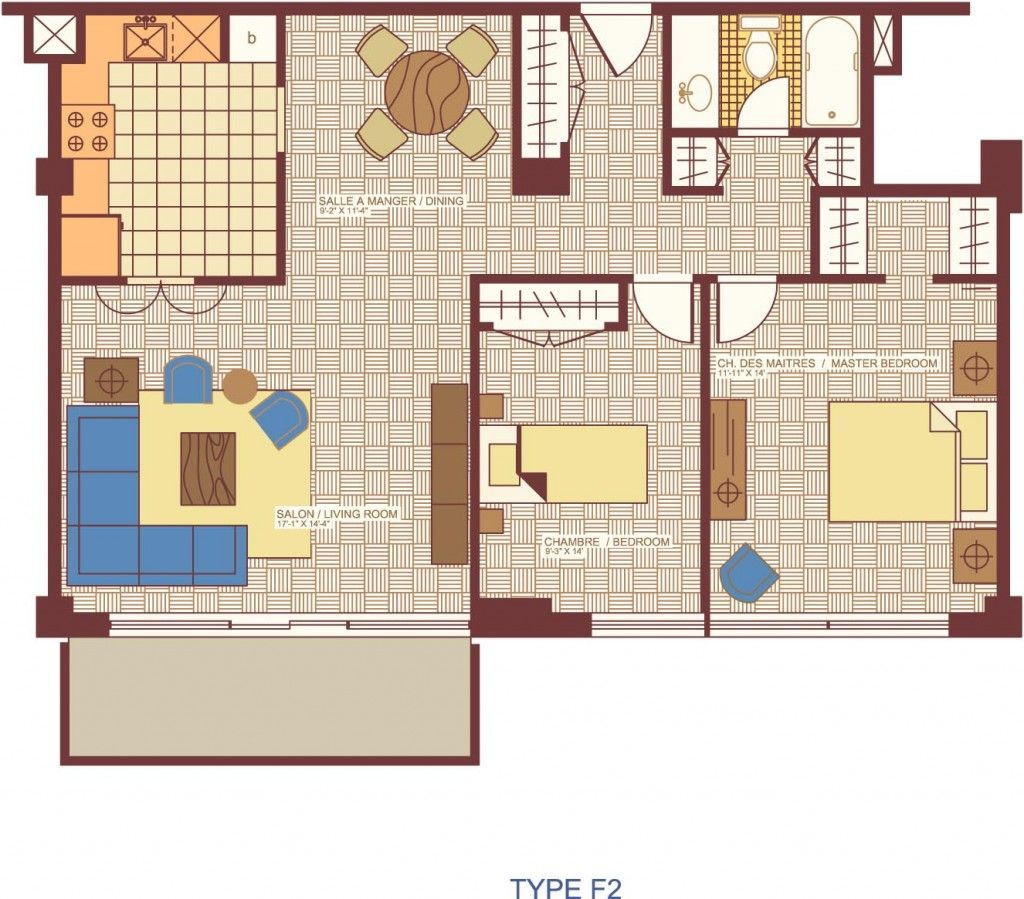 Plan Maison F2 | House plans | Pinterest