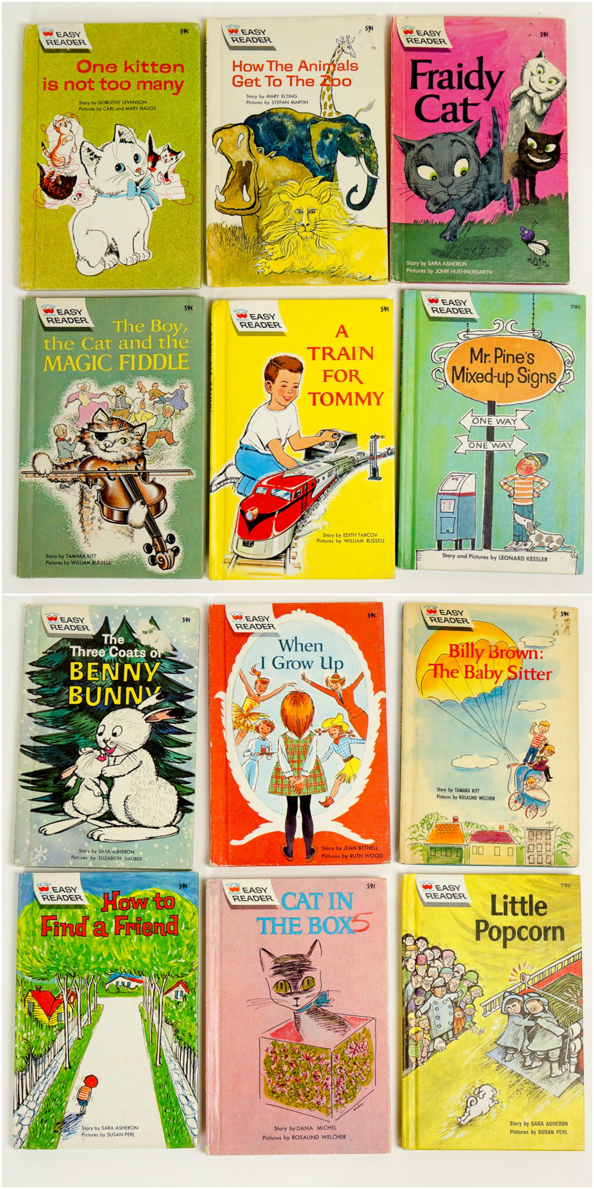 Vintage 1960s Childrens Book 60s Set Of 12 Easy Reader Childrens Books Books Wonder Book
