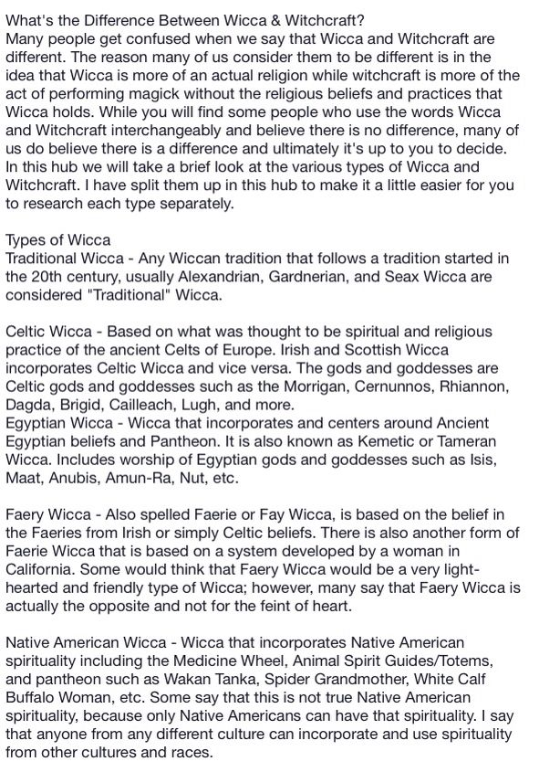 Types Of Witches Pg  WhatS The Difference Between Wicca