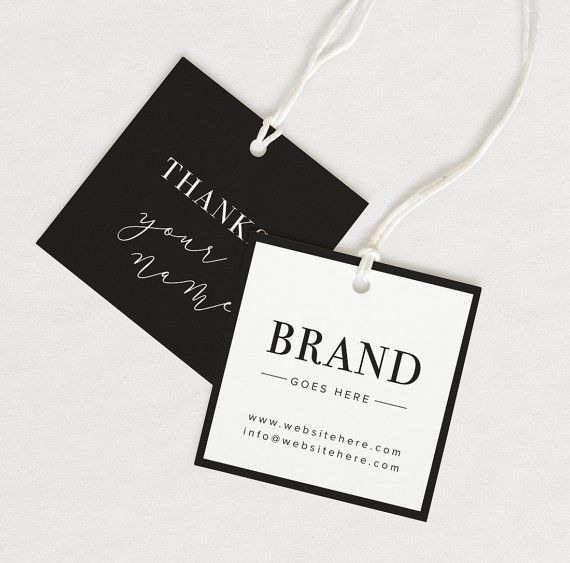 Thank You Tag Product Thank You Custom Hang Tag Custom Clothing