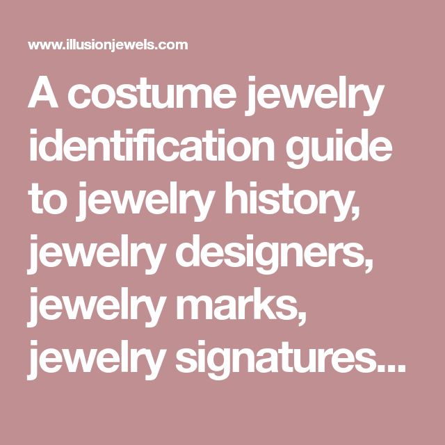 hot new products official site best website A costume jewelry identification guide to jewelry history, jewelry ...