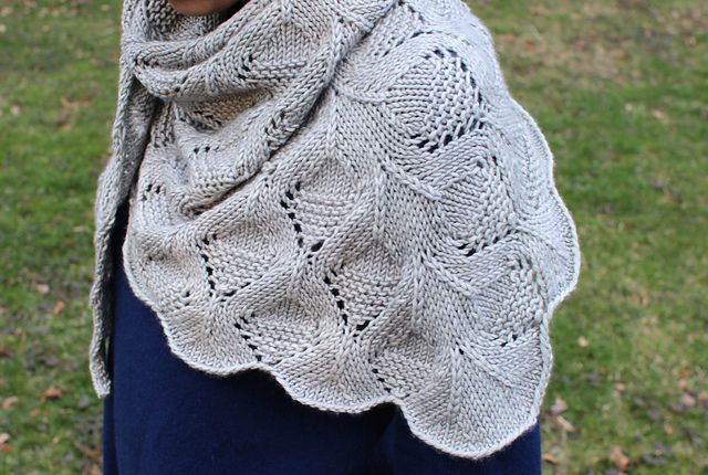 Ravelry: Oak Park pattern by Amy Miller, Pattern $5.00  Worsted (9 wpi) ?  Gauge  18 stitches and 28 rows = 4 inches  in Lace Pattern  US 8 - 5.0 mm  515 yards (471 m)  Sizes available  one size (easily adjustable)