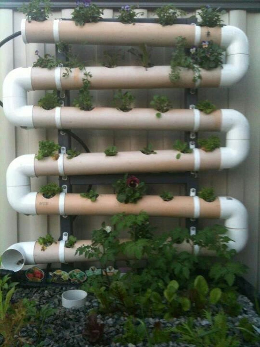70 Brilliant Ideas To Make Vertical Garden With Pipes Vertical Vegetable Gardens Vertical