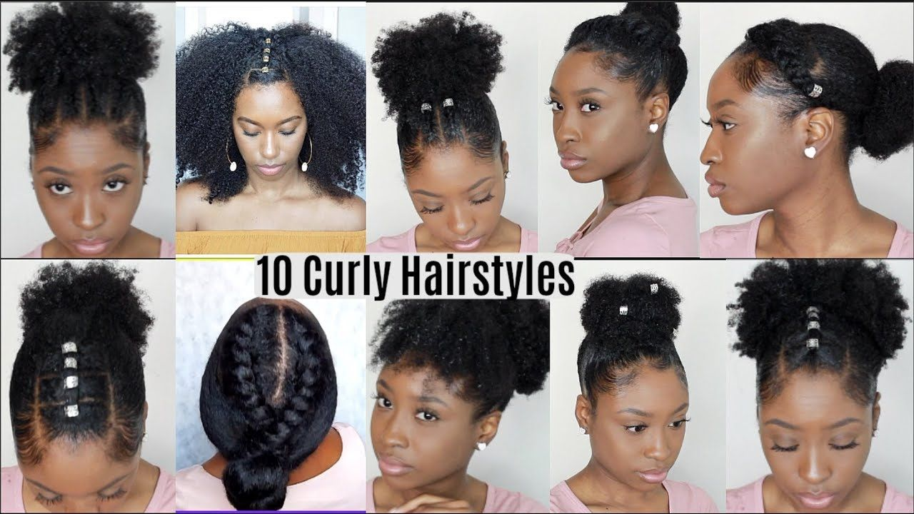 10 Quick Easy Hairstyles For Natural Curly Hair Instagram Inspired Hairstyles Youtube Natural Hair Styles Easy Easy Hairstyles Curly Hair Styles Easy