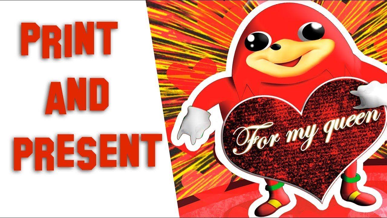 Uganda Knuckles Animated Diy Valentine Card Diy Valentine Card