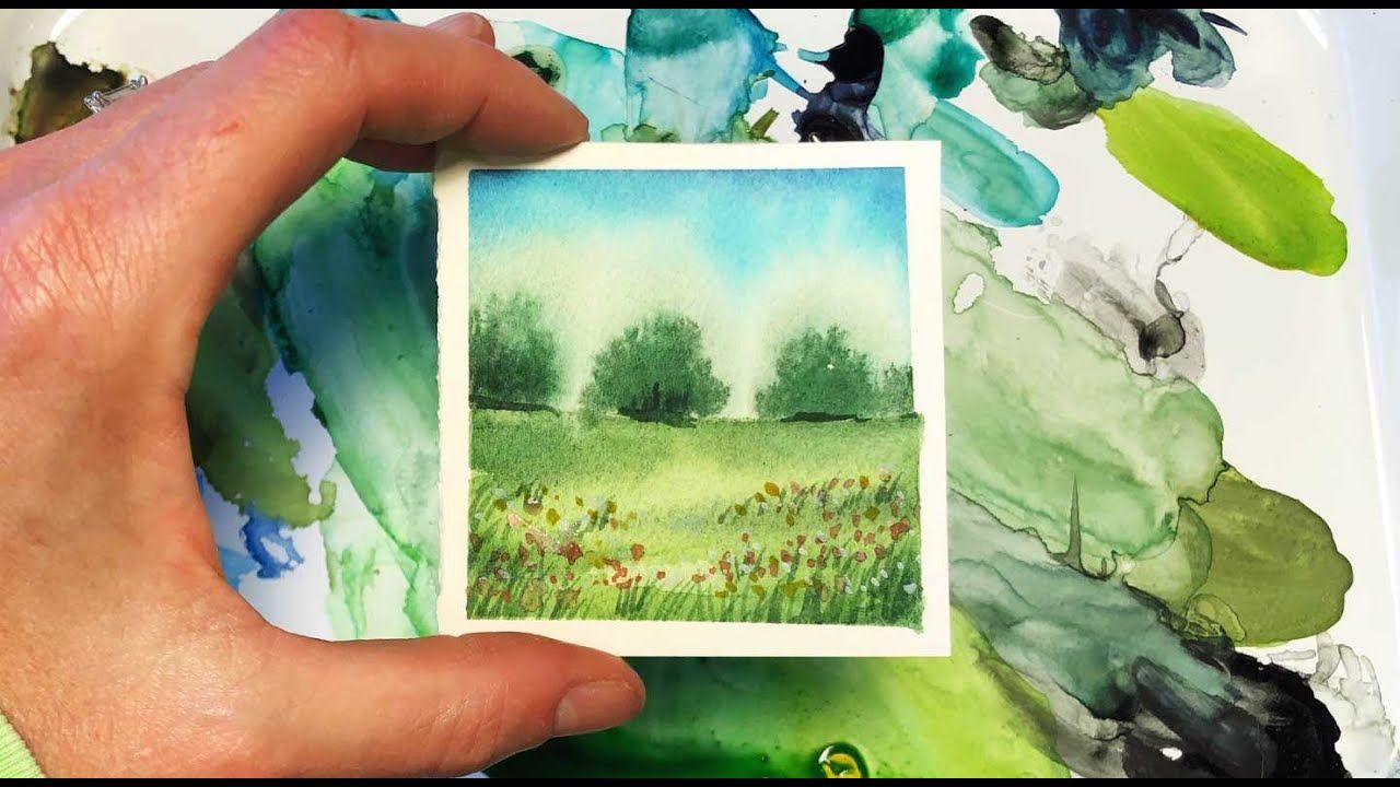 Watercolor Painting For Beginners Landscape Mini Monday 10 Real Time Watercolor Paintings Easy Happy Paintings Watercolor Paintings For Beginners