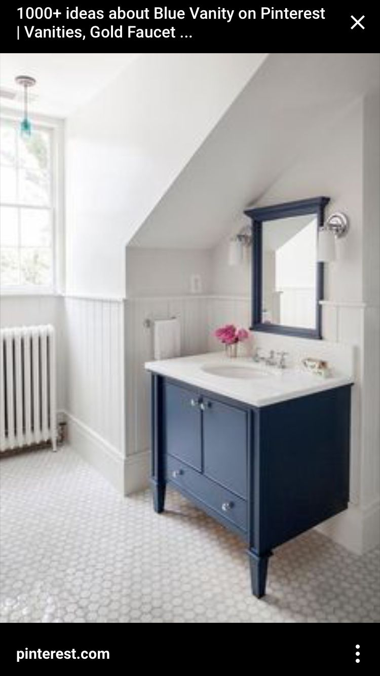 Pin By Kelly Lucey On Bathroom Ideas Heather Grey Navy Bathroom Blue Bathroom Vanity Blue Bathroom