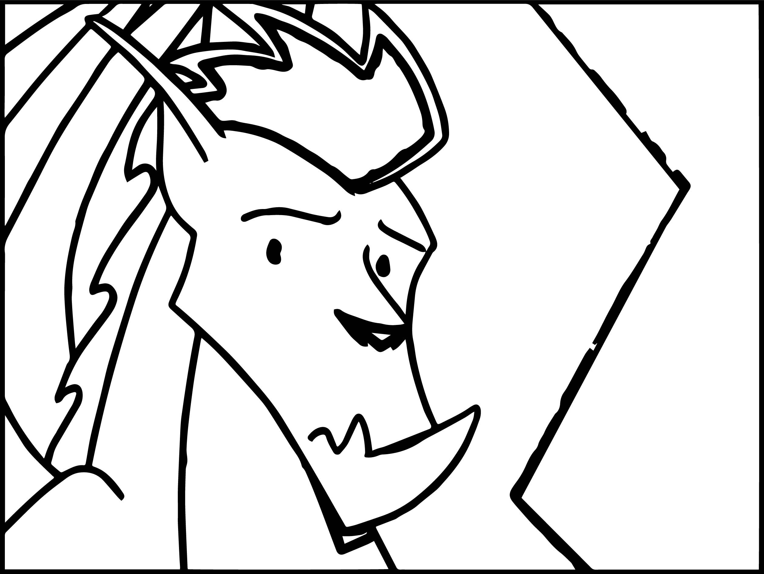 cool American Dragon Jake Long Sad Face Coloring Page ...