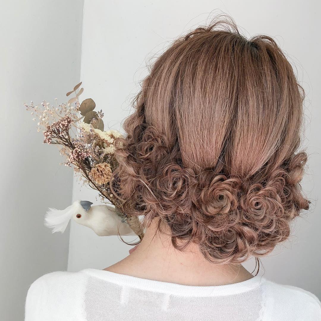インスタで話題のお花の髪型フルールヘアってどんなの Marry