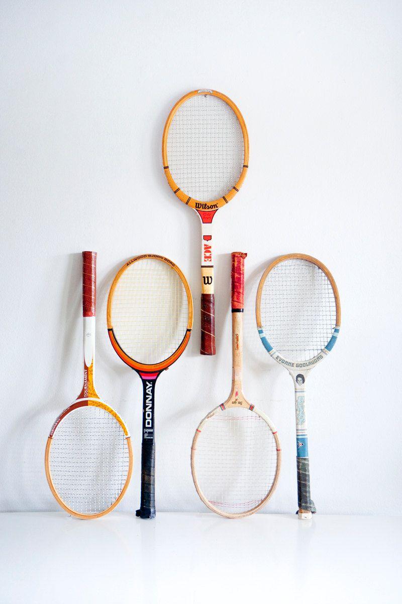 Vintage Tennis Rackets One Still Available Raquette De Tennis Raquettes Exercice Sport