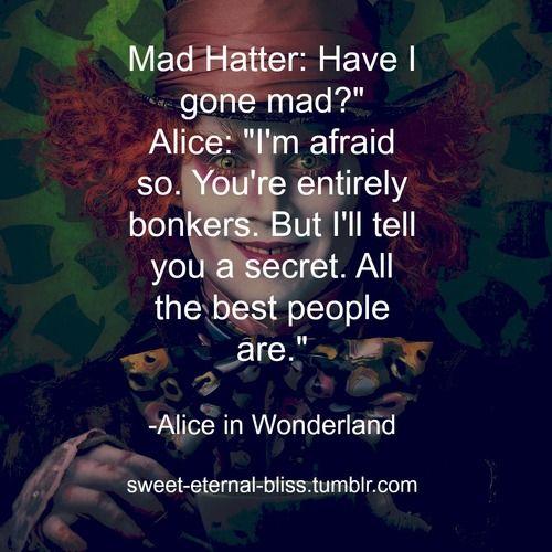 Alice In Wonderland Quotes Tumblr: Alice In Wonderland Quote