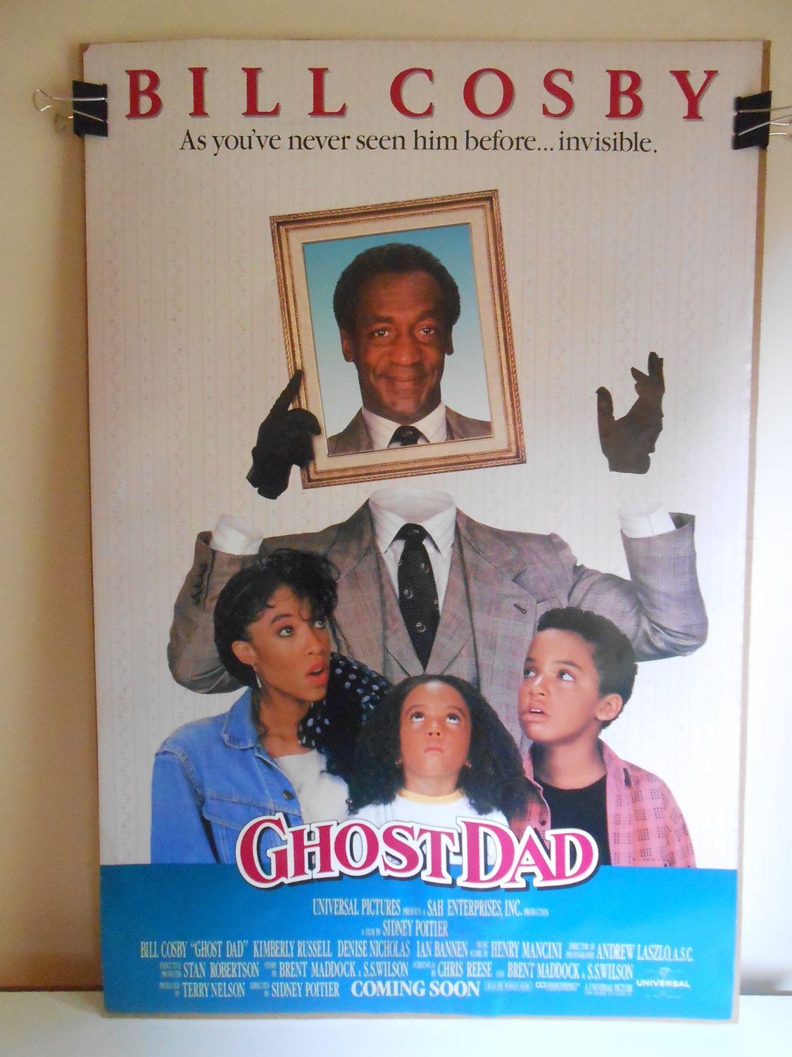 Ghost Dad (1990) Original Double Sided Movie Poster Bill Cosby 27x40 ...