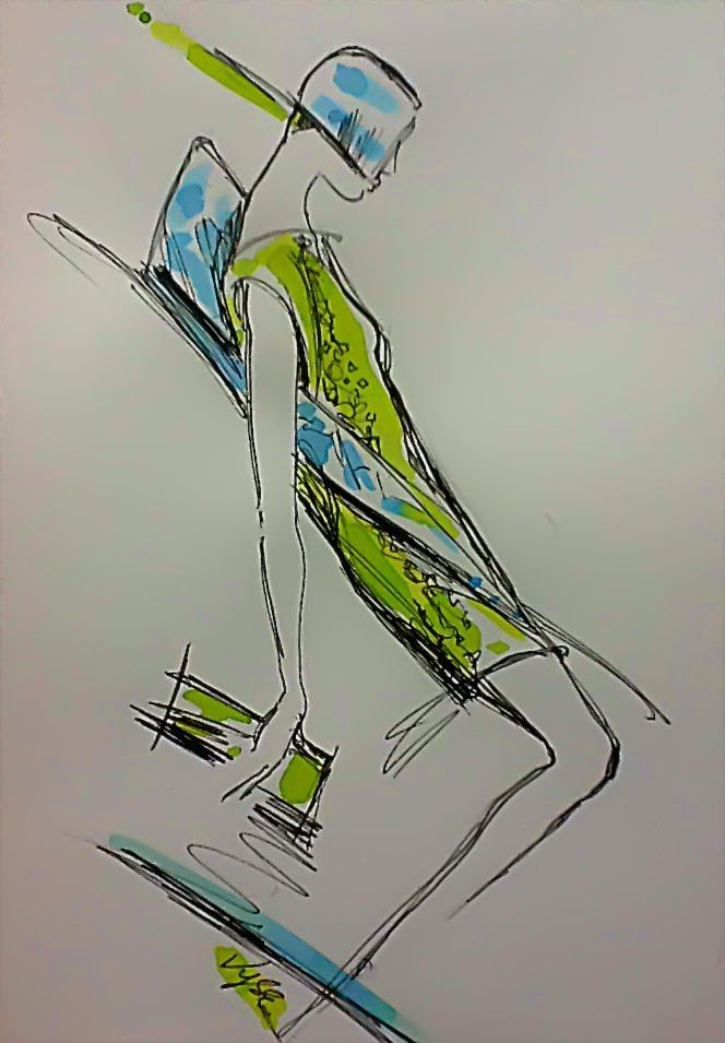 Fashion collection sketch by Richard Vyse