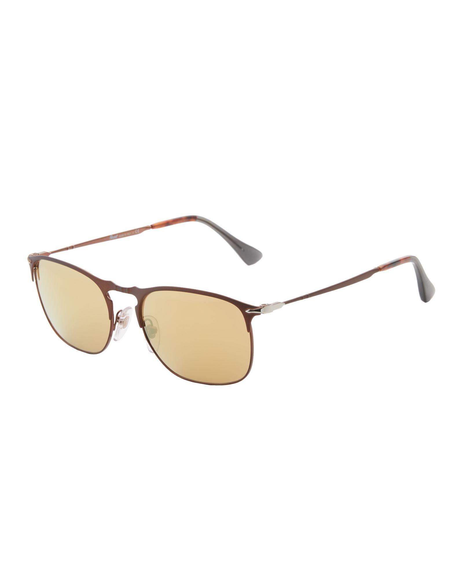 b986218625 Persol PO7359 Matte Bronze-Tone Oval Sunglasses
