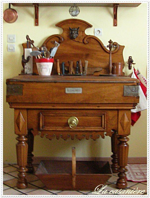 billot 1900 butcher block pinterest billot piano de cuisson et meuble de metier. Black Bedroom Furniture Sets. Home Design Ideas