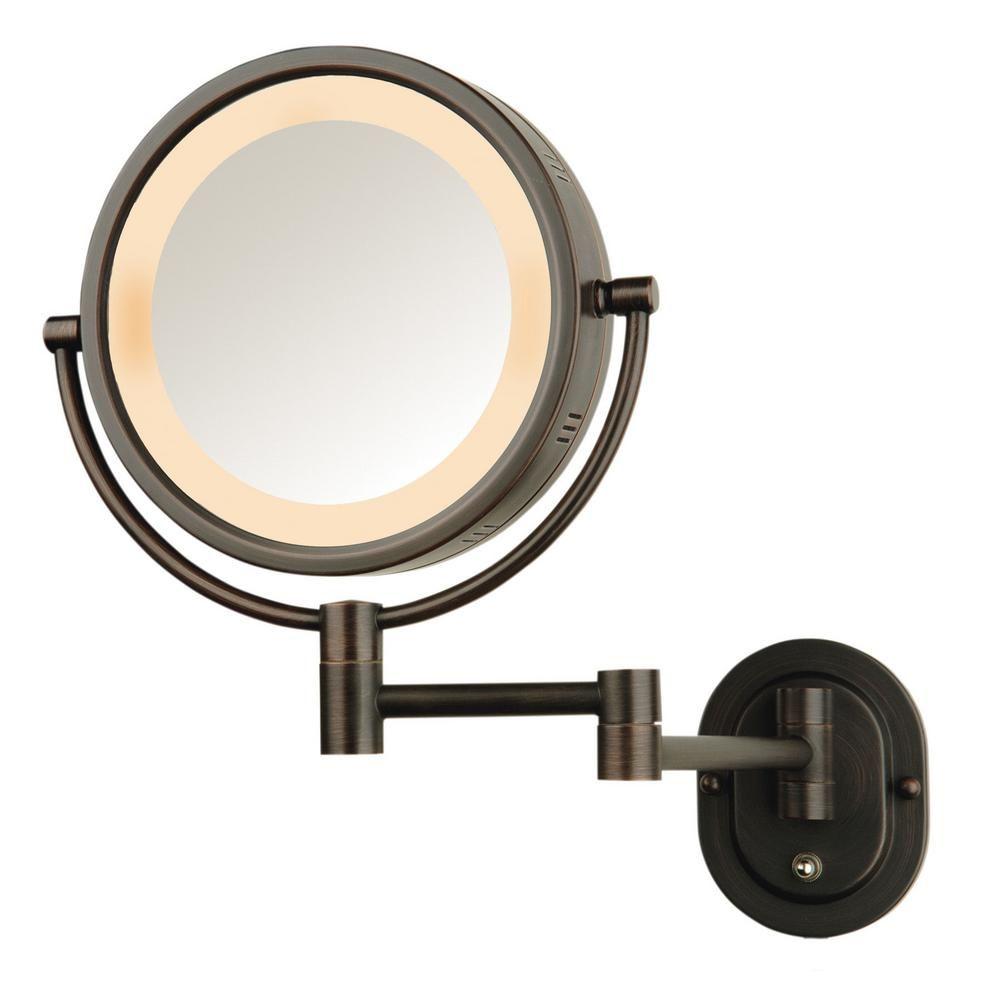 Jerdon 8 In Dia Bi View Wall Mount Makeup Mirror In Chrome Jp7506cf Lighted Wall Mirror Wall Mounted Makeup Mirror Makeup Mirror With Lights