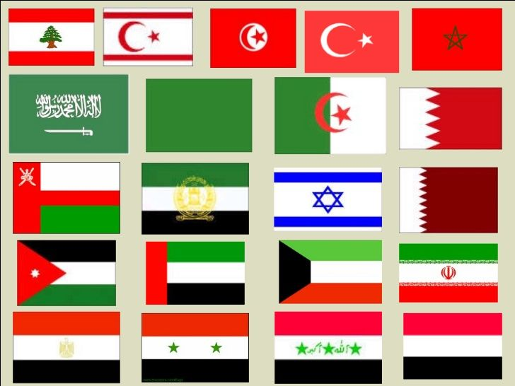 Middle East Flags East Middle East Flag