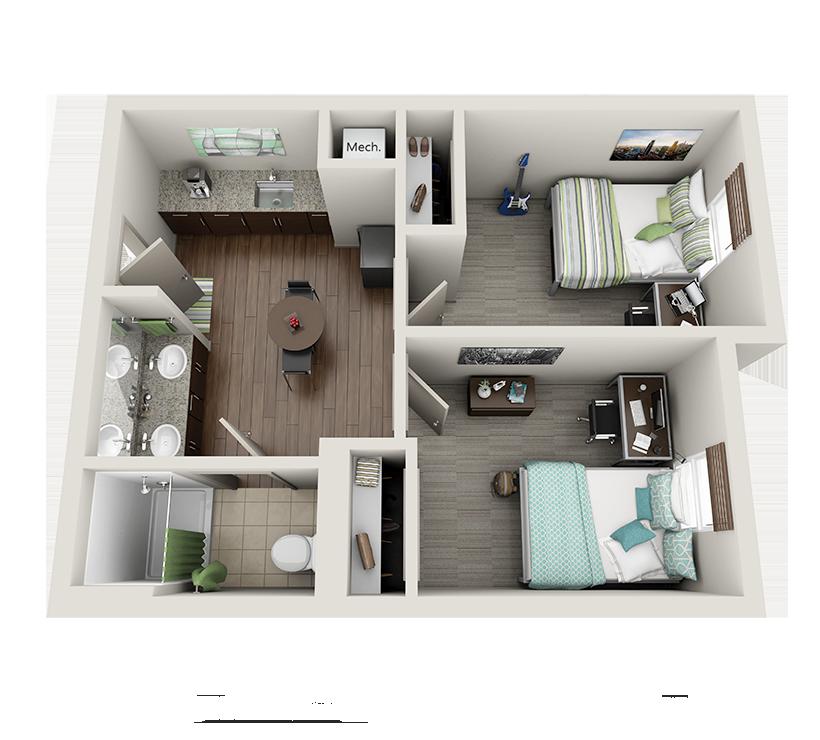 Room Types Undergraduate Dorm room layouts, Dorm