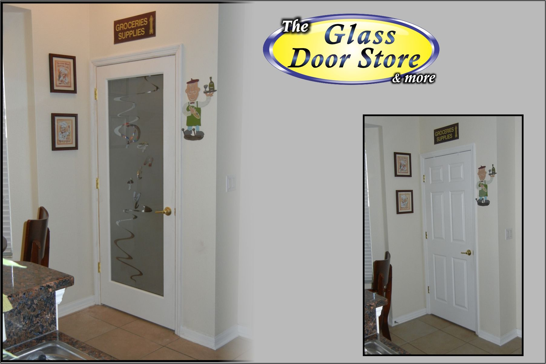 Nice Etched Glass Pantry Door With Modern Pantry Text. Installed In A Tampa  Home. Http
