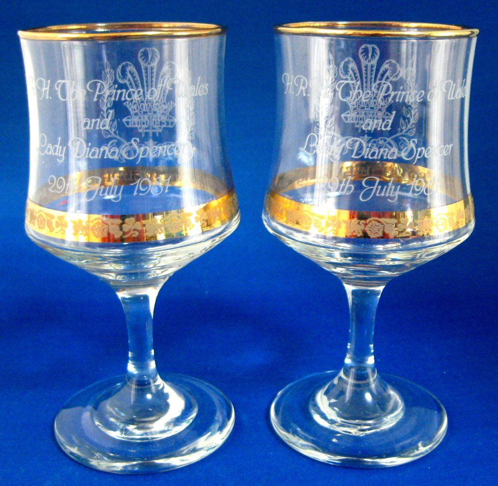 Lady Diana Wedding Glasses