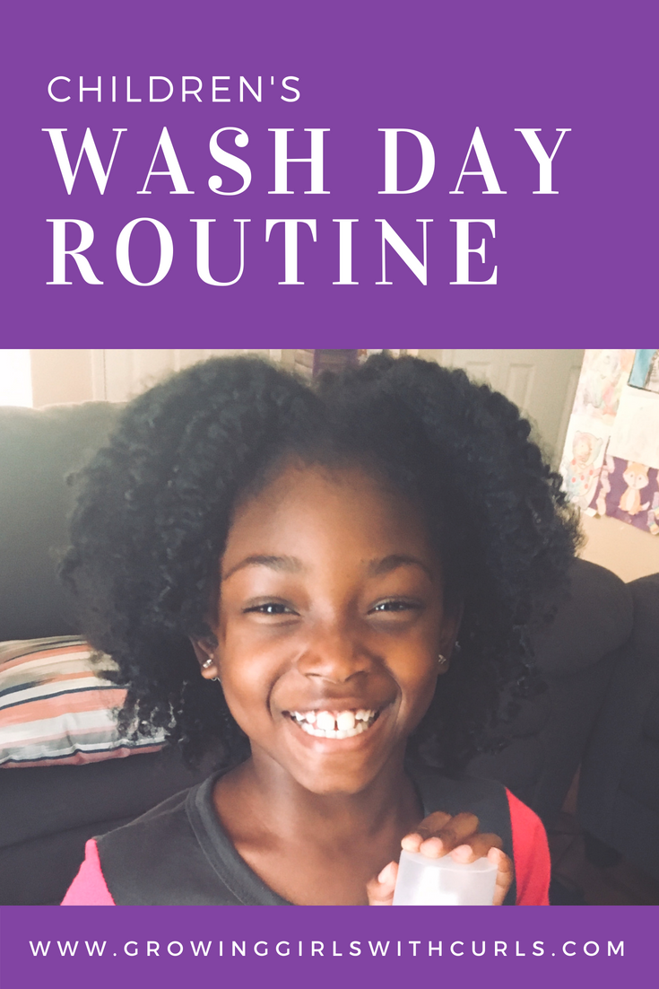 Children's Wash Day With Dove Natural hair care, Natural