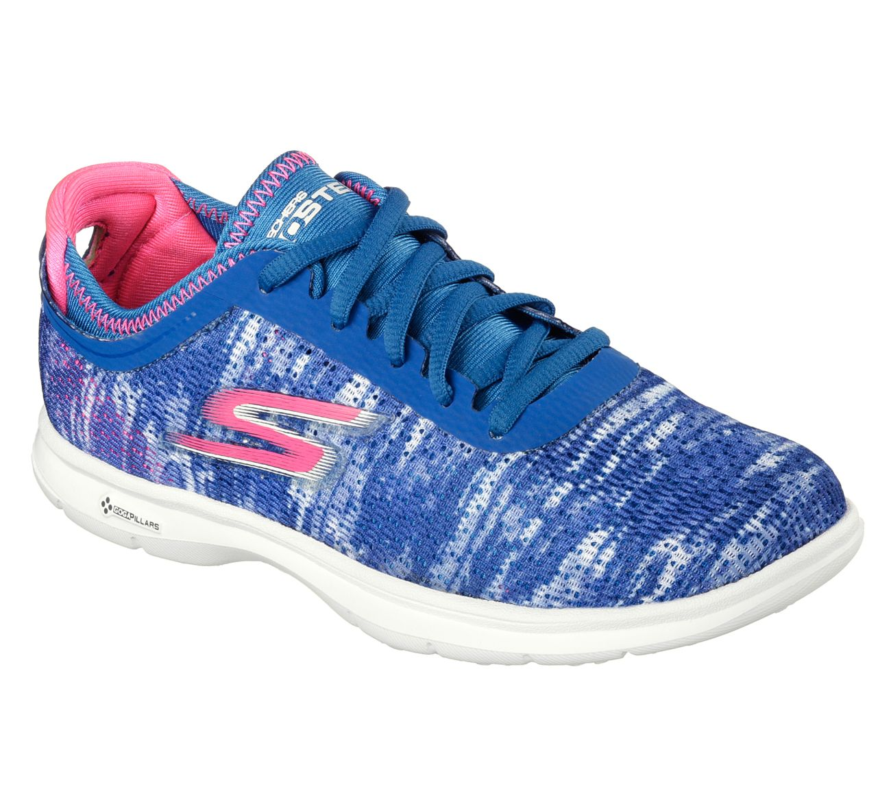 Skechers Women Go Step Blue And Pink Inspired by our Skechers GOwalk 3  platform the Skechers GO STEP combines innovation and style in a modern