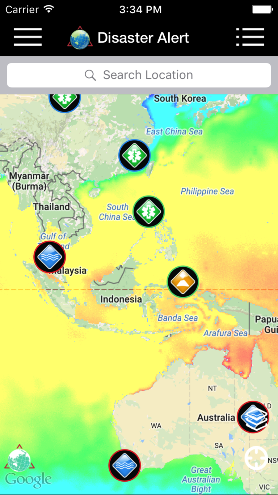 Disaster Alert (PDC World Hazards) CenterPacificNews