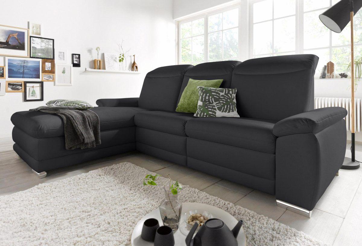 Astounding Couch Mit Relaxfunktion Foto Von Id Ecksofa Schwarz, Und Rückenverstellung, Recamiere Links,