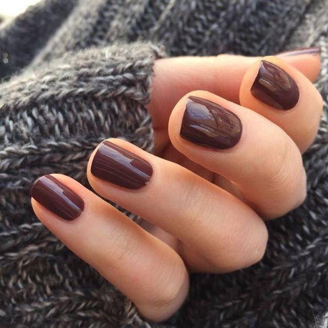 Dark Burgundy Hair And Nails Pretty Nails Nail Polish