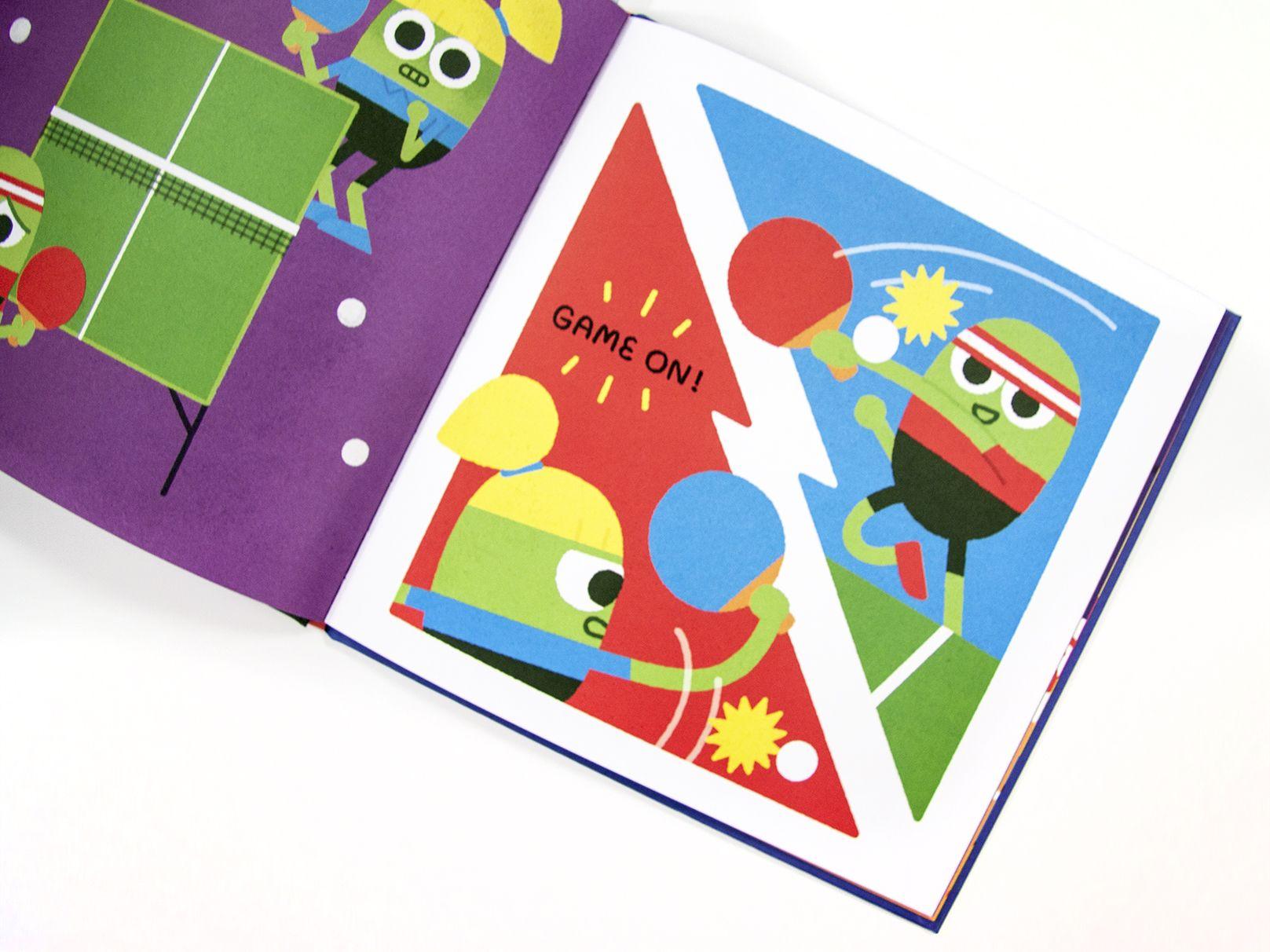 Flying Eye Books Ping vs Pong Pong, Tennis champion, Ping