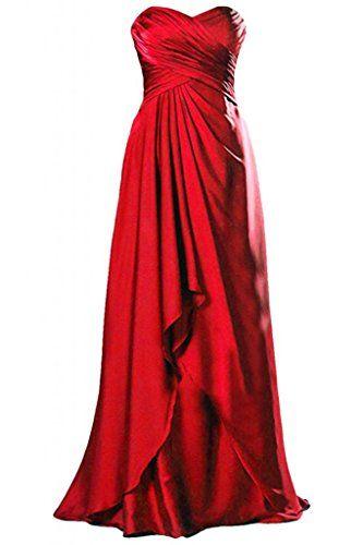 Abendkleider lang rot amazon