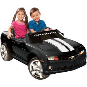 Kid Motorz Chevrolet Camaro 12 Volt Battery Operated Ride On Black With Racing Stripes Walmart Com Chevrolet Camaro Black Camaro Black Camaro