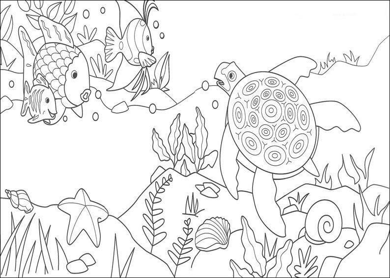Desenho De Peixes No Fundo Do Mar Para Colorir Peixe Desenho
